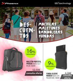 oferta en mochilas, maletines, banderolas, fundas