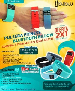oferta pulsera fitness bluetooth