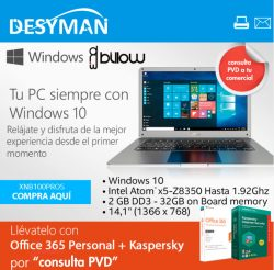 oferta portatil billow en desyman