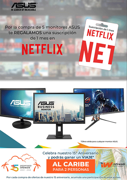 1 mes de Netflix gratis con Infowork y Asus