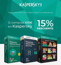descuento especial en antivirus kaspersky