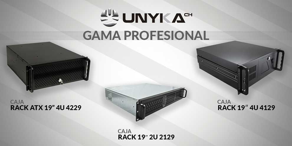 Cajas Rack de UNYKAch, perfectas para entornos profesionales