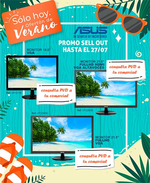 sell out monitores asus