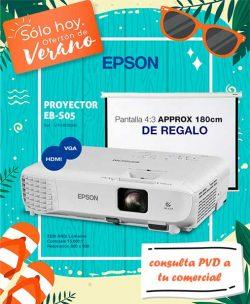PROYECTOR EPSON EB-S05 3200LUM SVGA HDMI-VGA