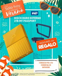 "DISCO DURO EXTERNO 2.5"" 2TB WD MY PASSPORT USB 3.0 YELLOW"