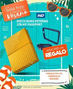 "DISCO DURO EXTERNO 2.5"" 2TB WD MY PASSPORT USB 3.0 YELLOW"