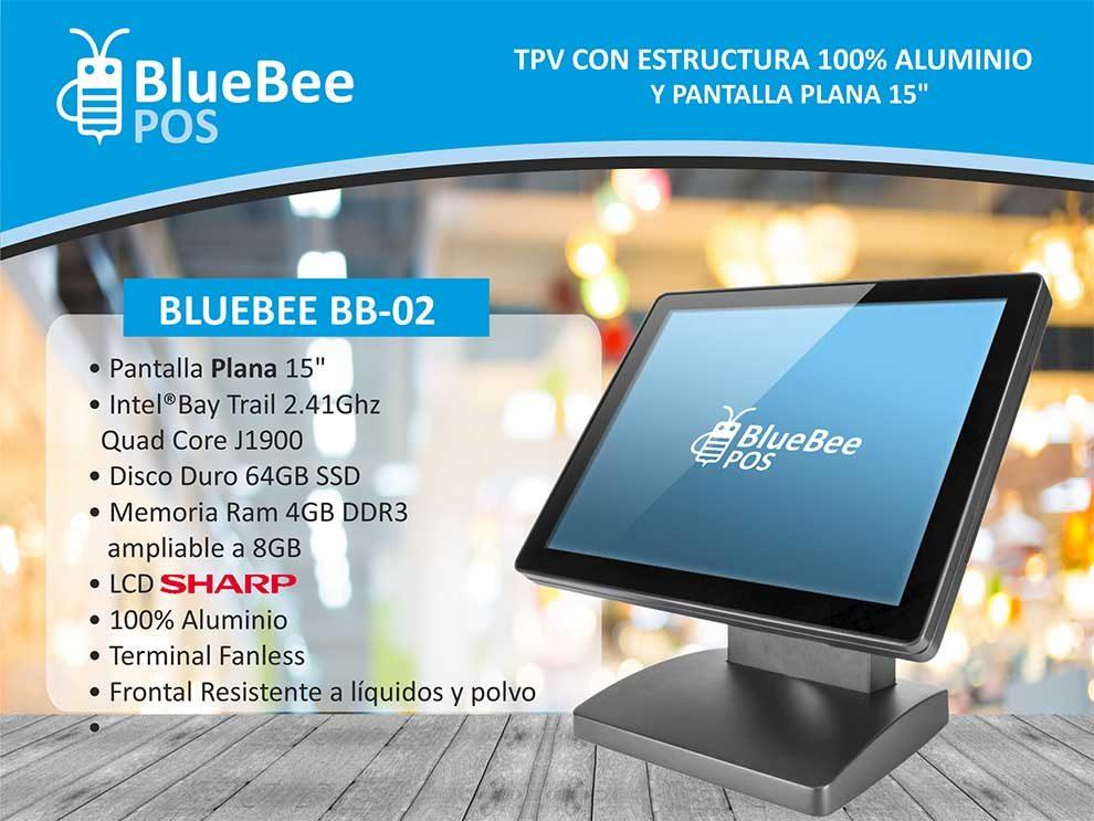 Bluebee BB02 TPV con estructura de aluminio