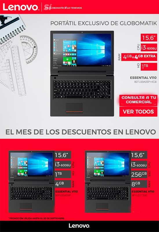 Portatil exclusivo Lenovo en Globomatik