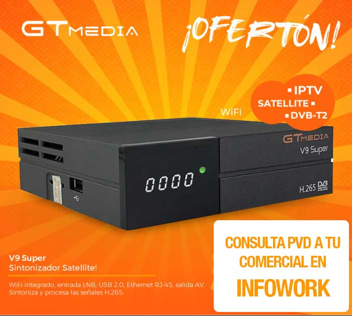 SINTONIZADORA SATELITE GTMEDIA V9 SUPER H.265