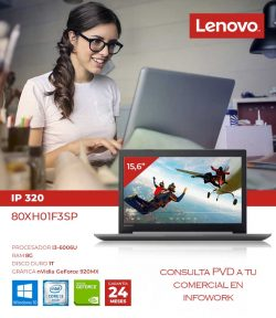 PORTATIL LENOVO IP 320 I3-6006U-8G-1T-920MX-15.6-W10
