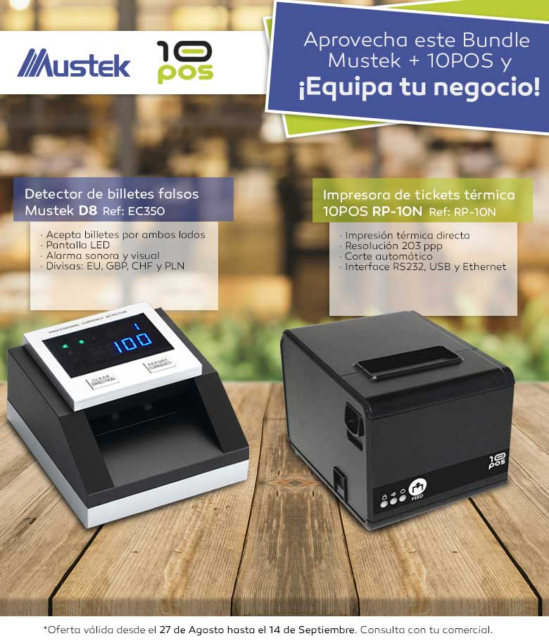 BUNDLE IMPRESORA 10POS + DETEC. BILLETES FALSOS