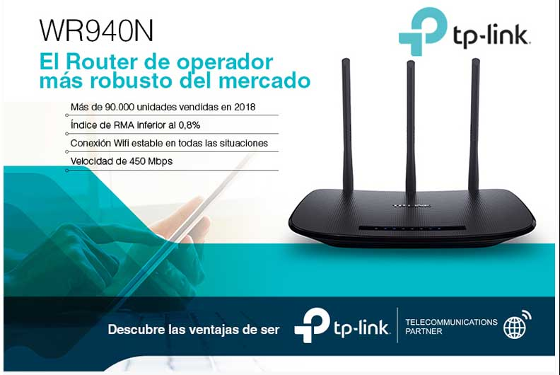 WIFI-AP N450MBPS ROUTER TP-LINK 4P 10-100