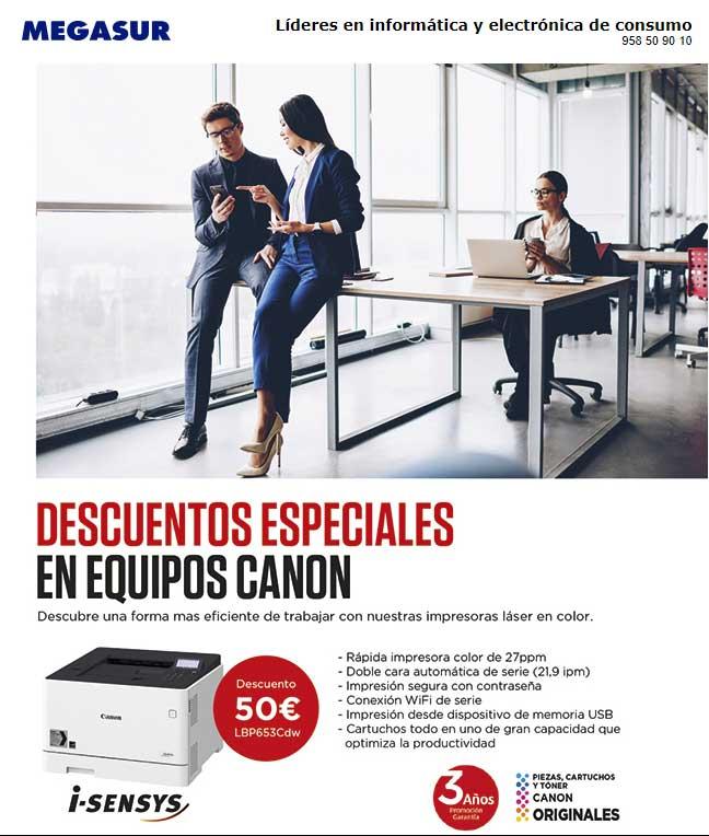 descuento especiales Canon láser color