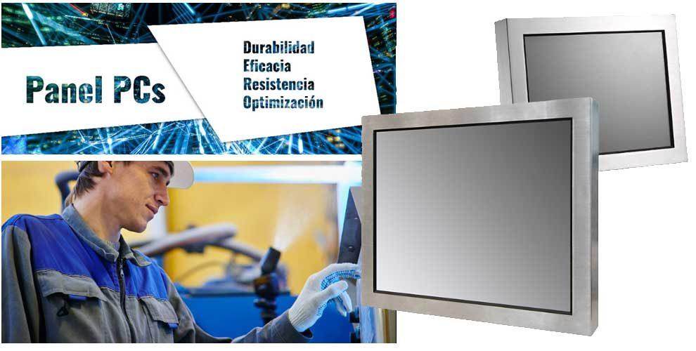 Los Panel PC Industriales de la serie K790 son unos pc táctiles de acero y sellado frontal IP65 para trabajos agresivos. Ideales para los sectores de industria y automatización.