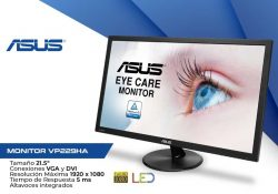 "MONITOR 21.5"" LED ASUS VP229HA FULLHD VGA-HDMI ALT"