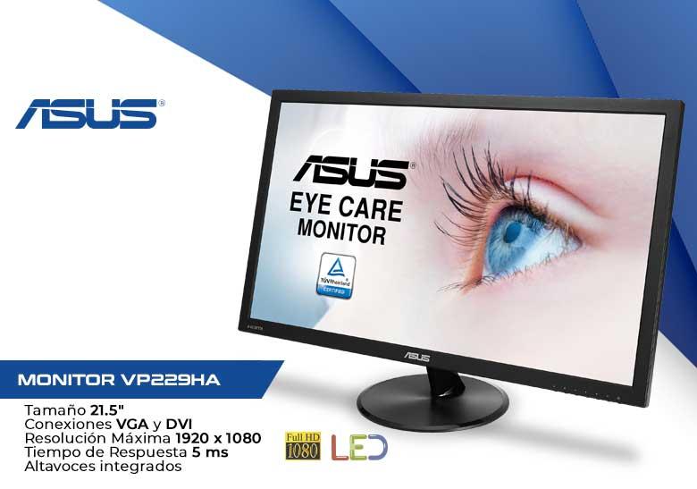 "MONITOR 21.5"" LED ASUS VP229HA FULLHD VGA-HDMI ALT"