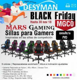 descuento en sillas gamers mars gaming