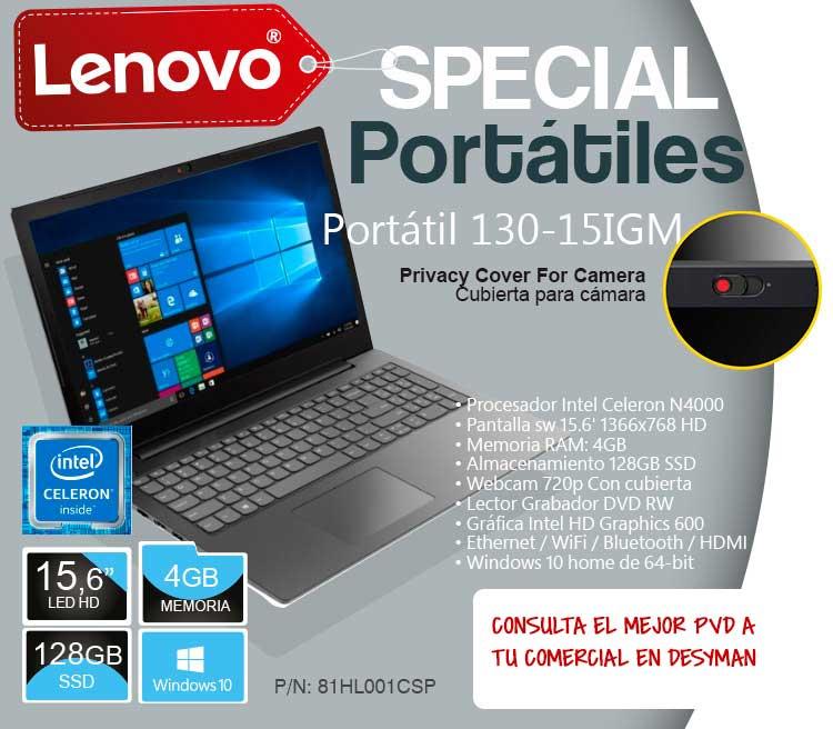 precios especiales en portátiles Lenovo