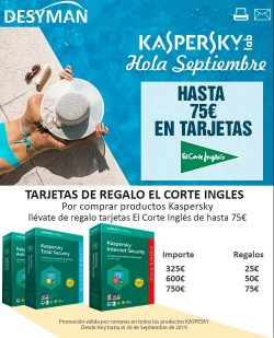 promocion Kaspersky en Desyman