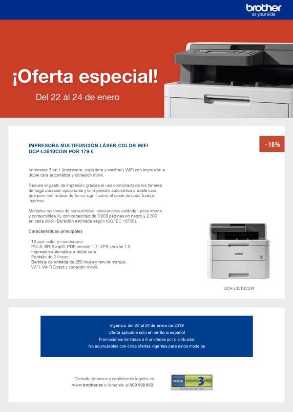 oferta especial impresora laser brother