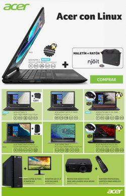 portatiles acer con linux