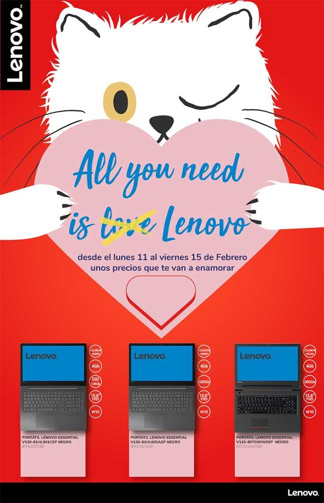ofertas, novedades, descuentos Lenovo