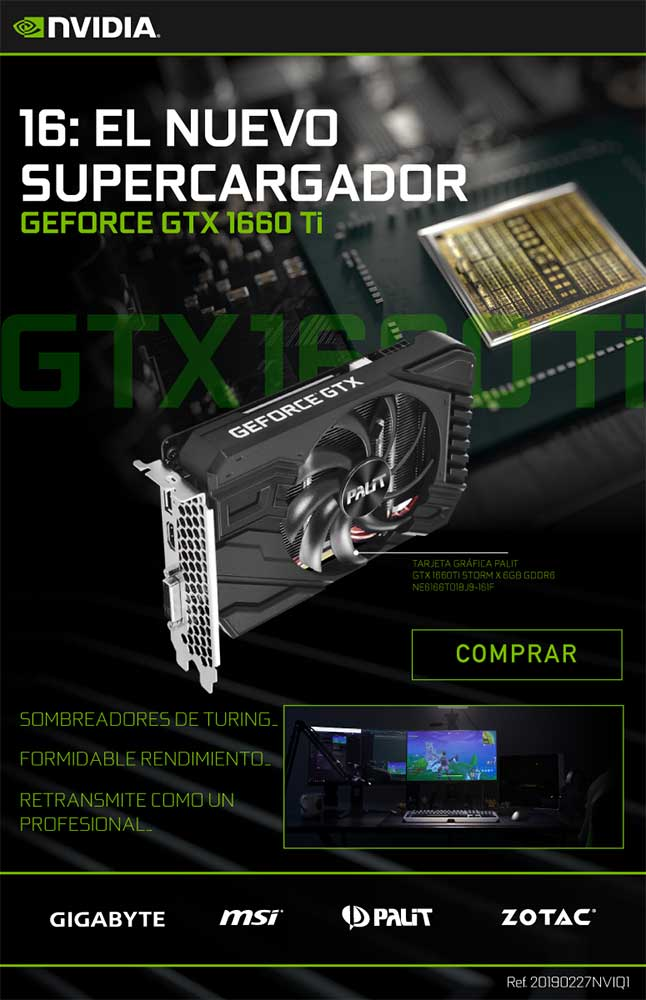 comprar Geforce GTX 1660 Ti
