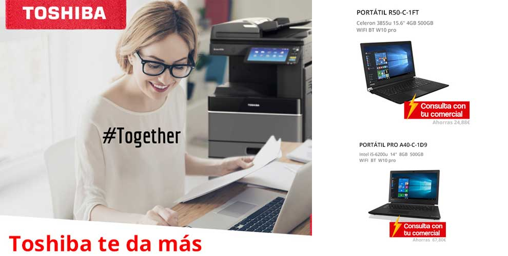 ofertas, novedades, descuentos Toshiba