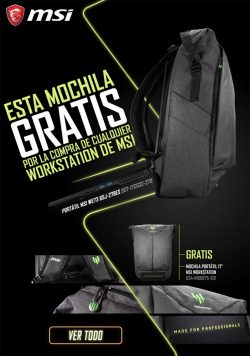 mochila gratis con las workstation de MSI