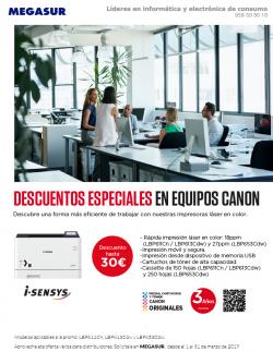 descuentos especiales en impresoras canon