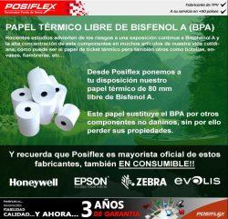 papel termico libre de bisfenol