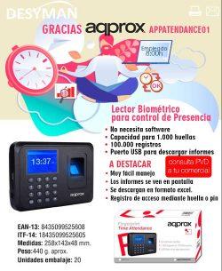 LECTOR BIOMETRICO APPROX PARA CONTROL DE PRESENCIA