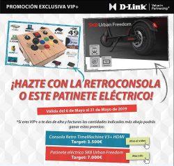 Promoción d link retroconsola y patinete