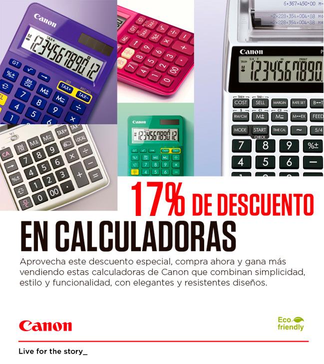 descuento calculadoras canon