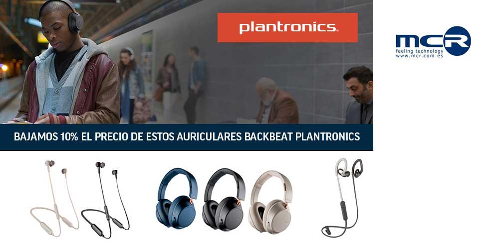 Bajamos precio en los auriculares Backbeat Plantronics