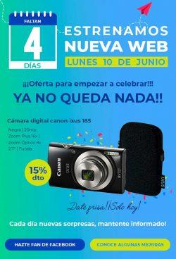 Cámara digital canon ixus 185 negra