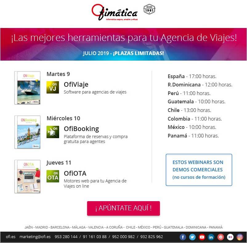 webinar agencias de viajes online