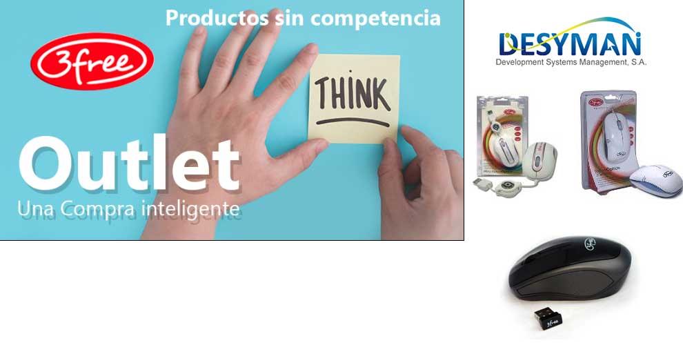 Outlet de productos 3free, una compra inteligente
