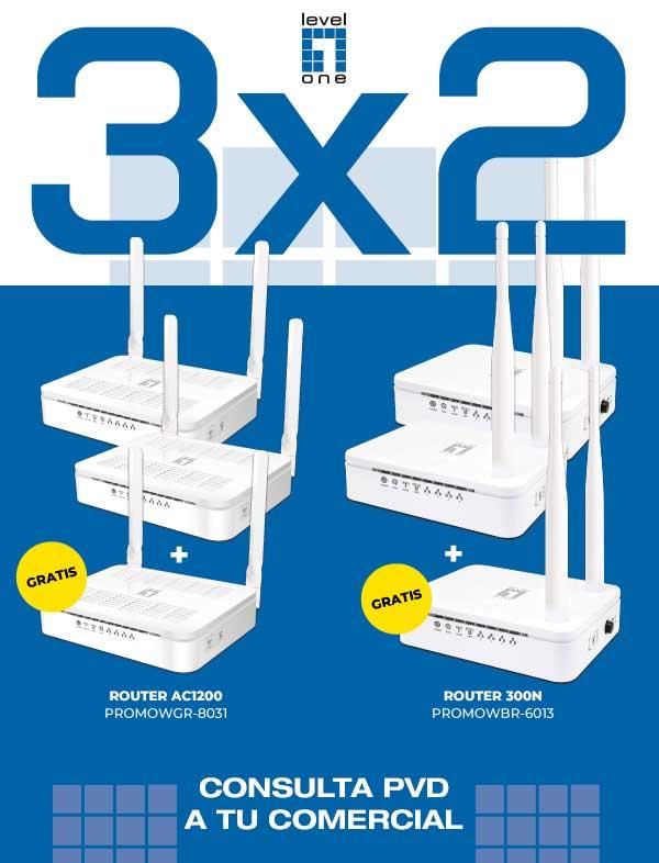 promocion 3x2 en routers