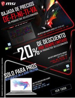 bajada precios portatiles
