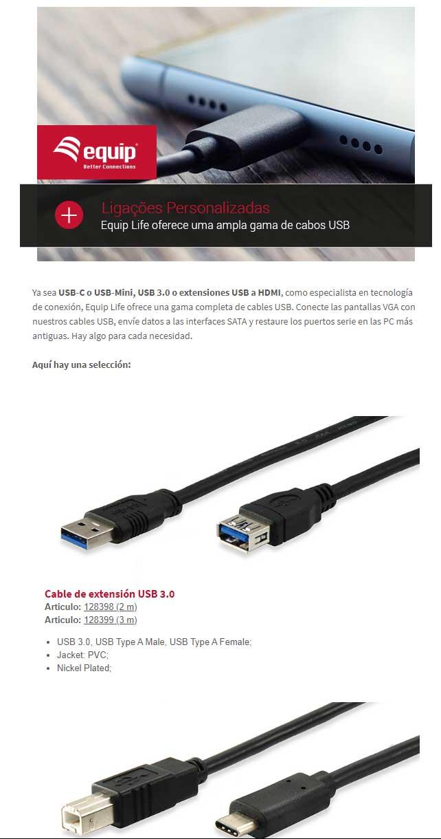Equip Life una amplia gama de cables a medida