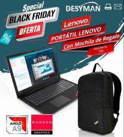 black friday lenovo con mochila de regalo