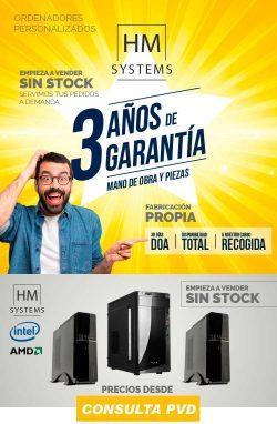 ordenadores a medida con 3 años de garantía