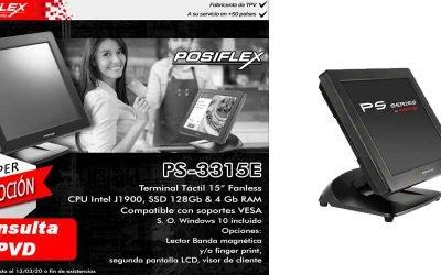 Súper promoción TPV PS-3315E de Posiflex