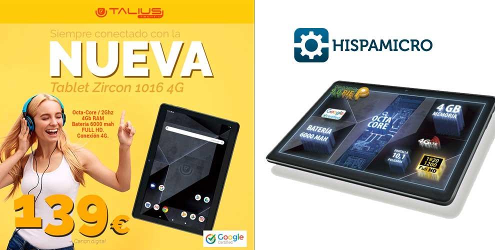 tablet mas barata con 4g