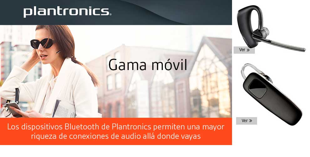 Dispositivos Bluetooth Plantronics en MCR