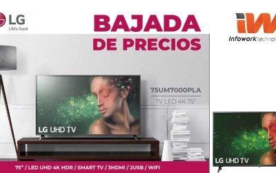 Bajada de precios en televisores LG
