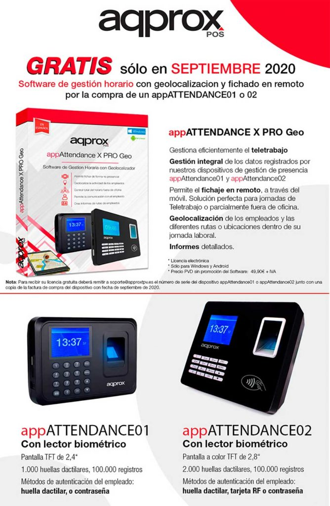 Oferta para sistema de control horario