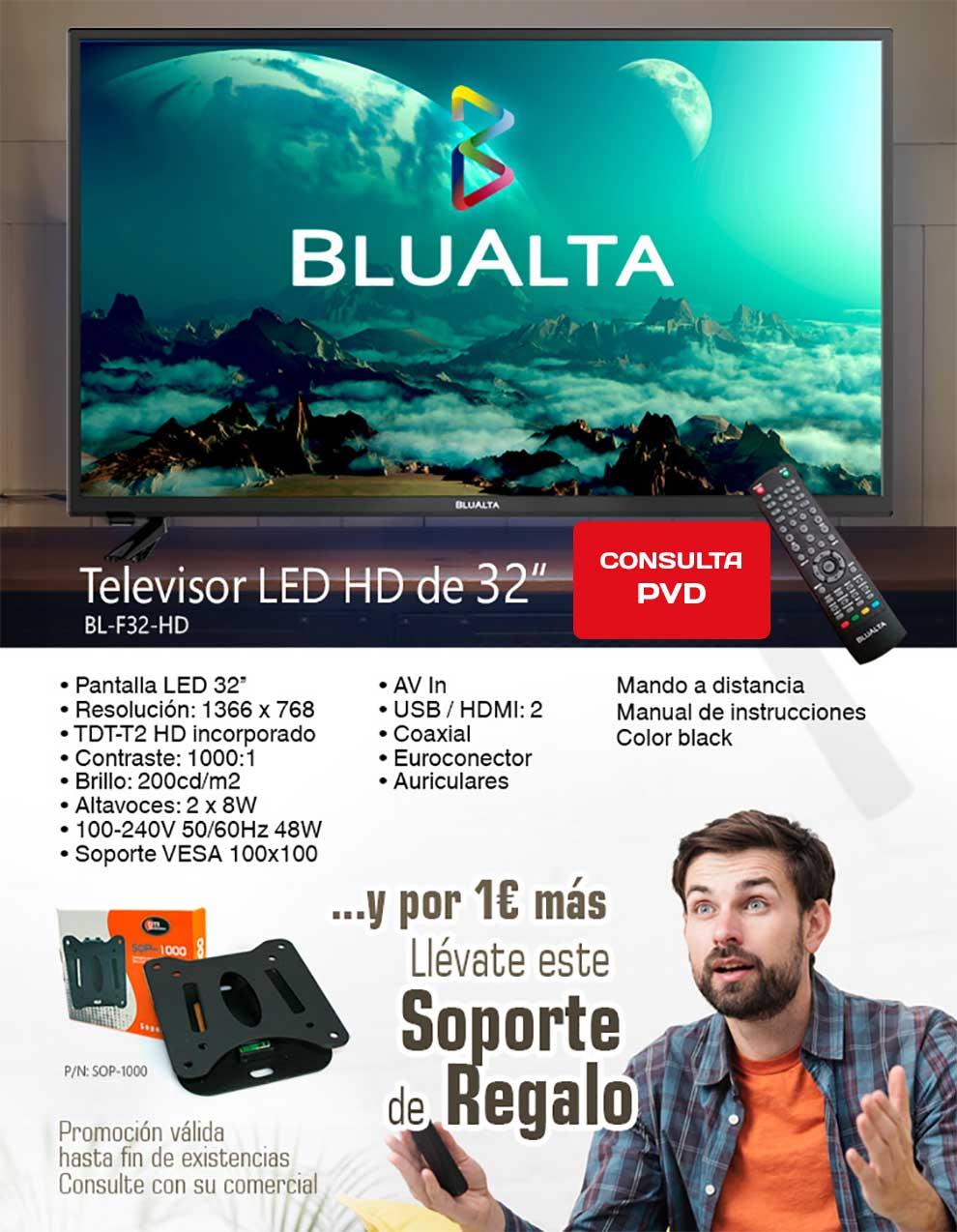 tv 32 pulgadas con soporte de regalo