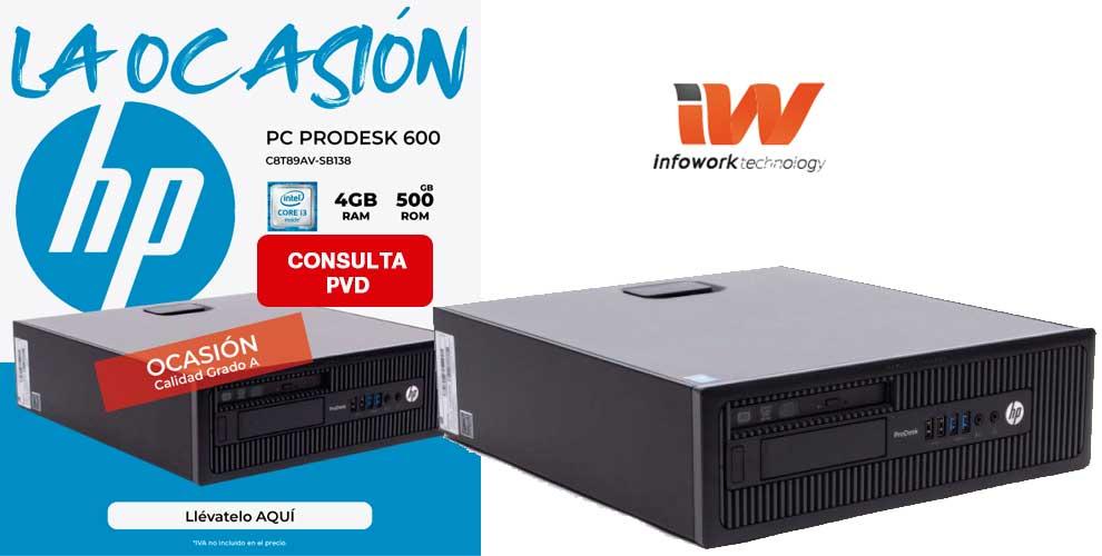 PC OCASION HP PRODESK 600 G1 SFF I3-3220-4G-500G
